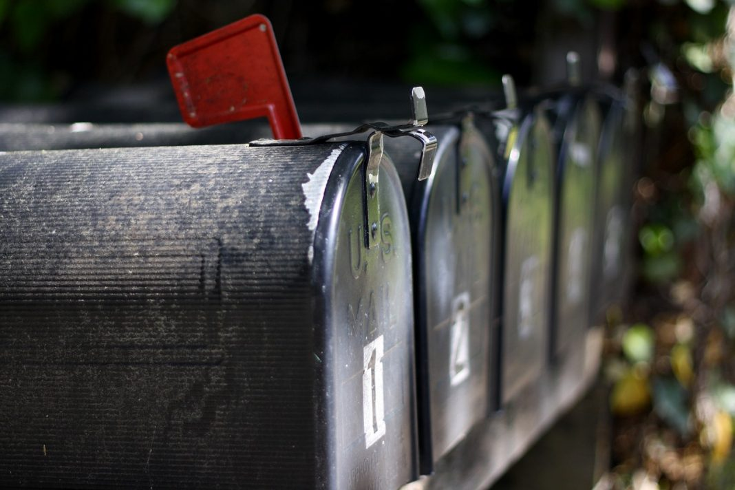red flag mailbox