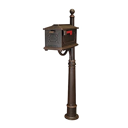 Kingston Curbside Mailbox with Ashland Mailbox Post Unit Color: Copper