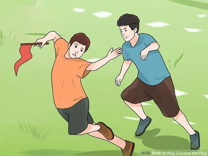Capture the flag- 10 Best Outdoor Gamesfor Family