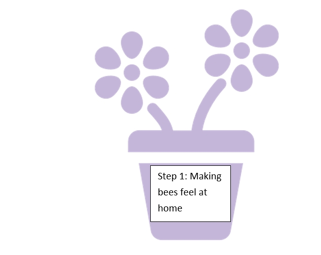 Step 1: Making bees feel at home