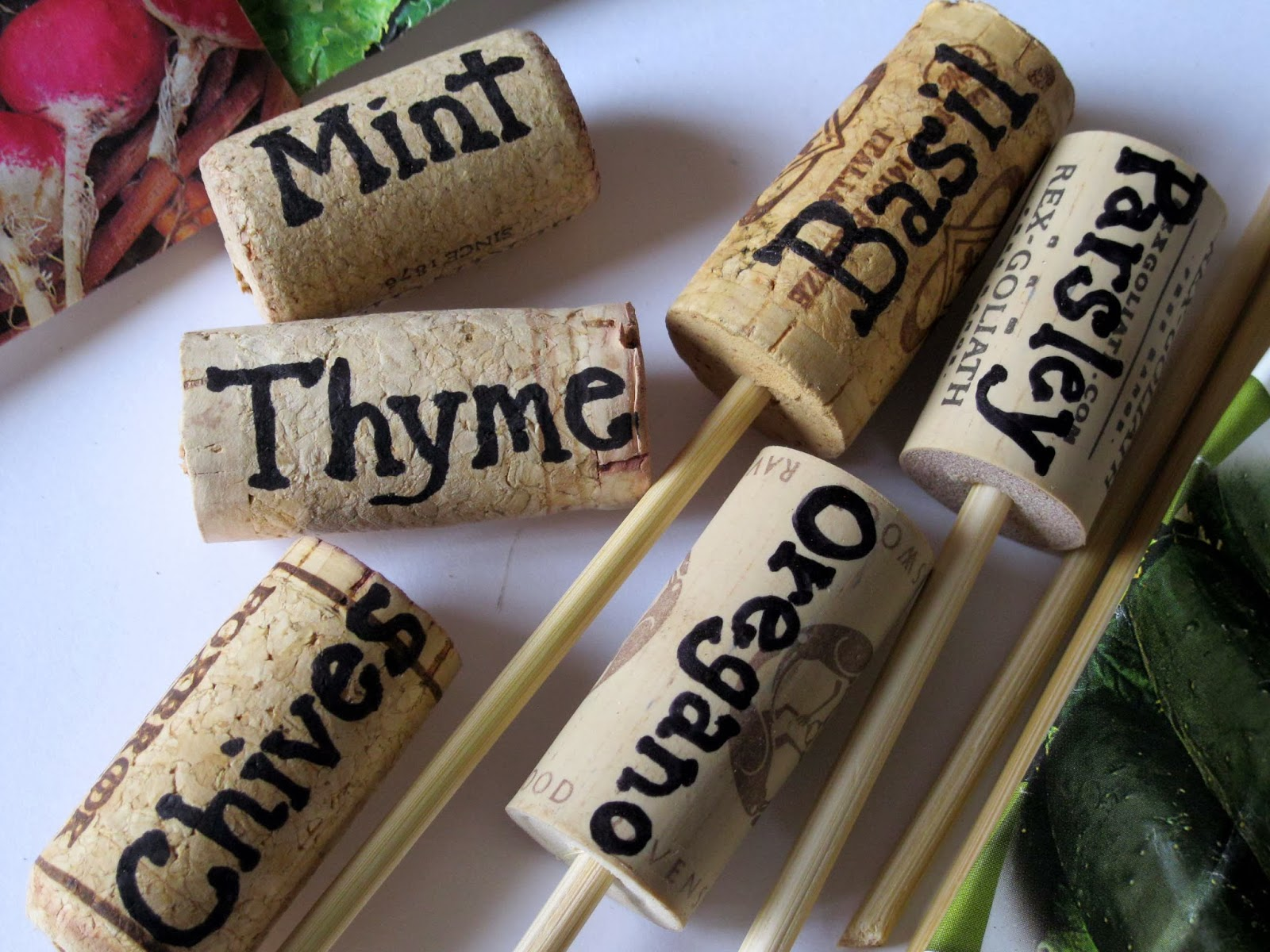Wine Corks as Plant Markers